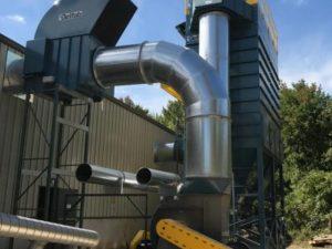 Dépoussiéreur modulaire fermé – À jet d'air pulsé